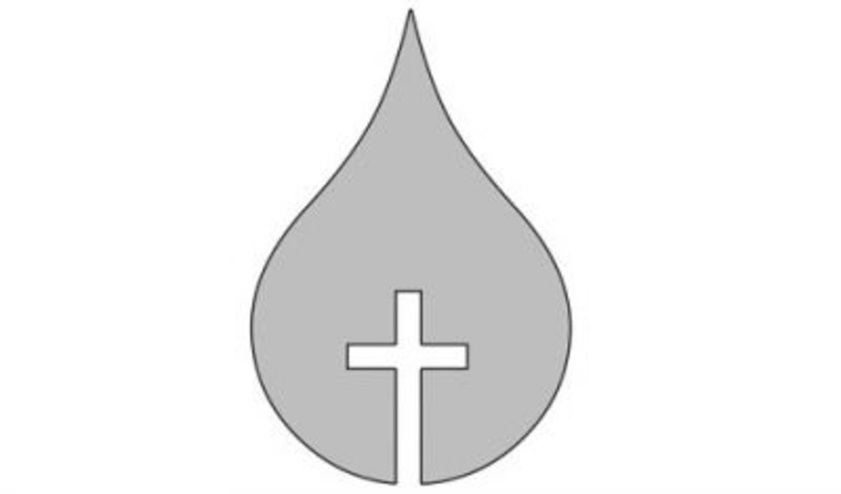 Jesus's blood stencil.