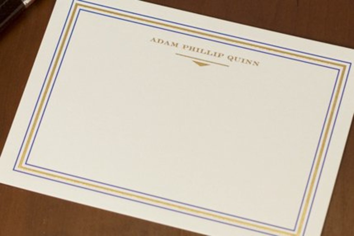 Get the groom his own flat correspondence cards so he can write some thank you notes too!