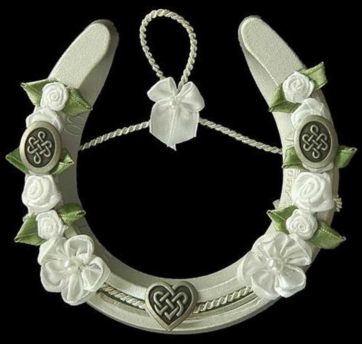 Always display a lucky horseshoe facing up so your good luck does not spill out!