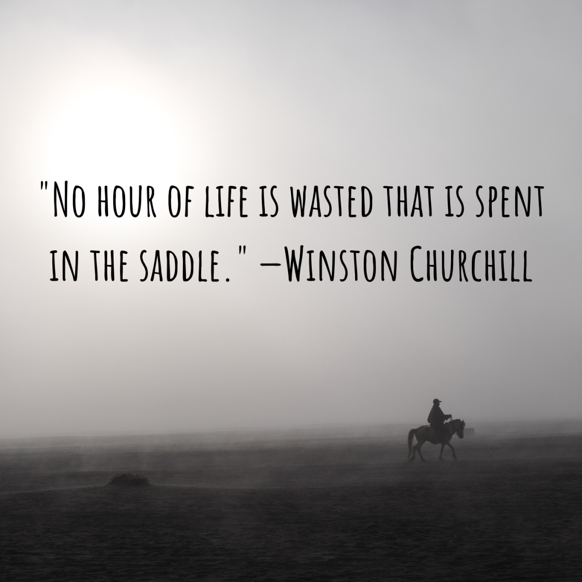 """No hour of life is wasted that is spent in the saddle."" —Winston Churchill"