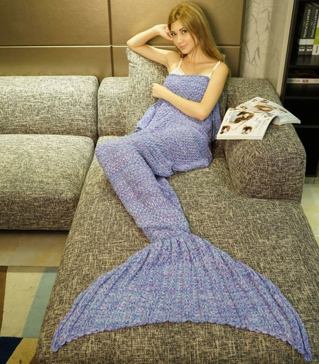 This super soft mermaid blanket lets girls chill in style.