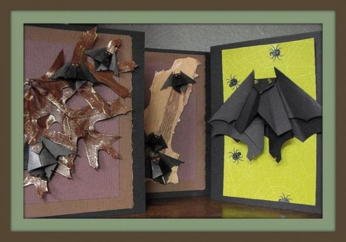 Use Origami Bats for Greetings