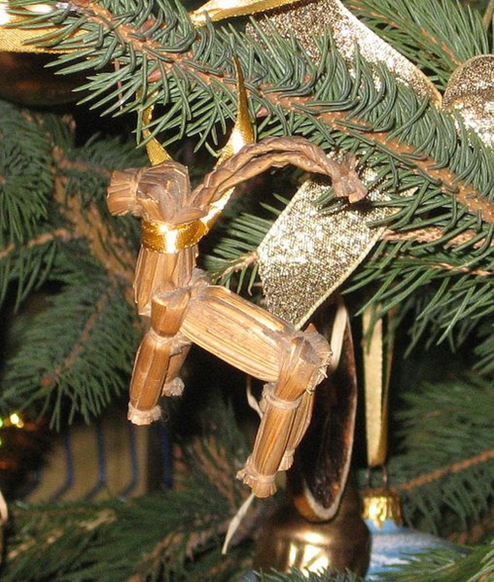 A Christmas Tree Decoration in the Shape of a Goat