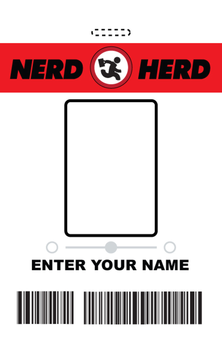 Nerd Herd badge template