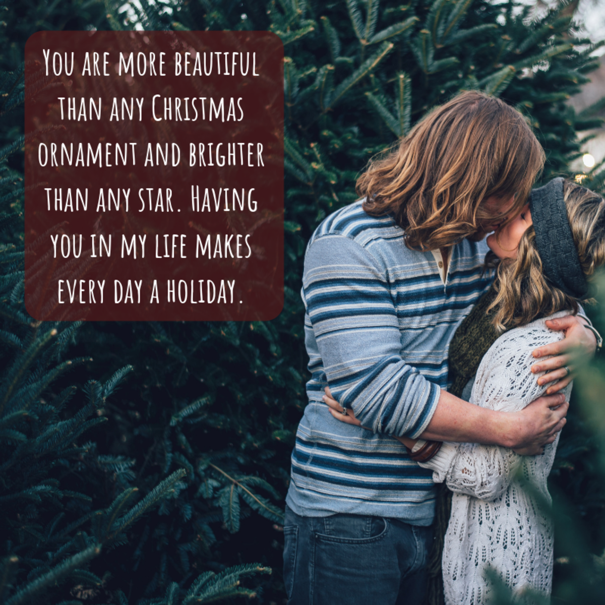 Don't be afraid to get a little cheesy when writing a Christmas card for your special someone.