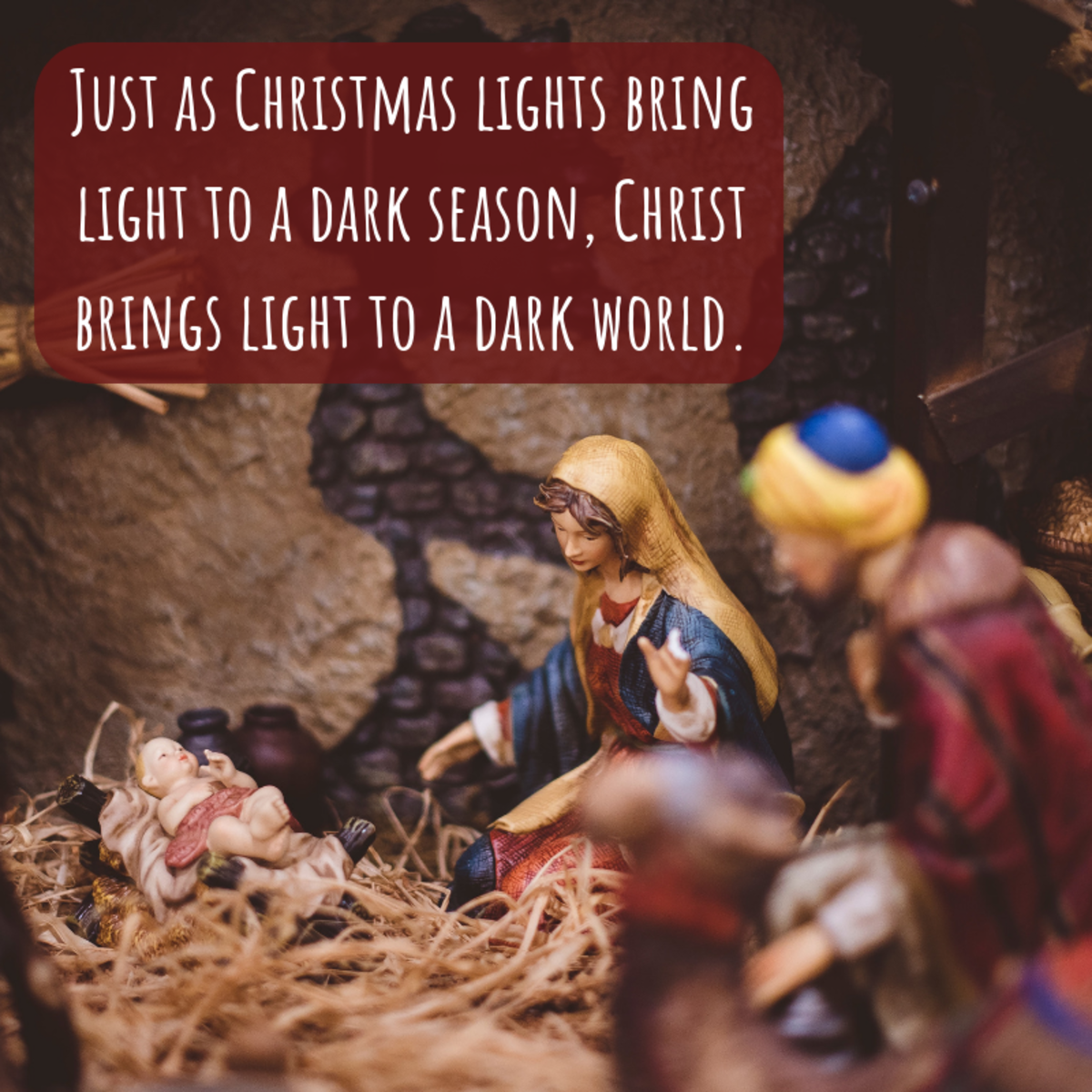 Incorporate a line or two about the religious significance of the holiday in cards to the Christian folk in your life.