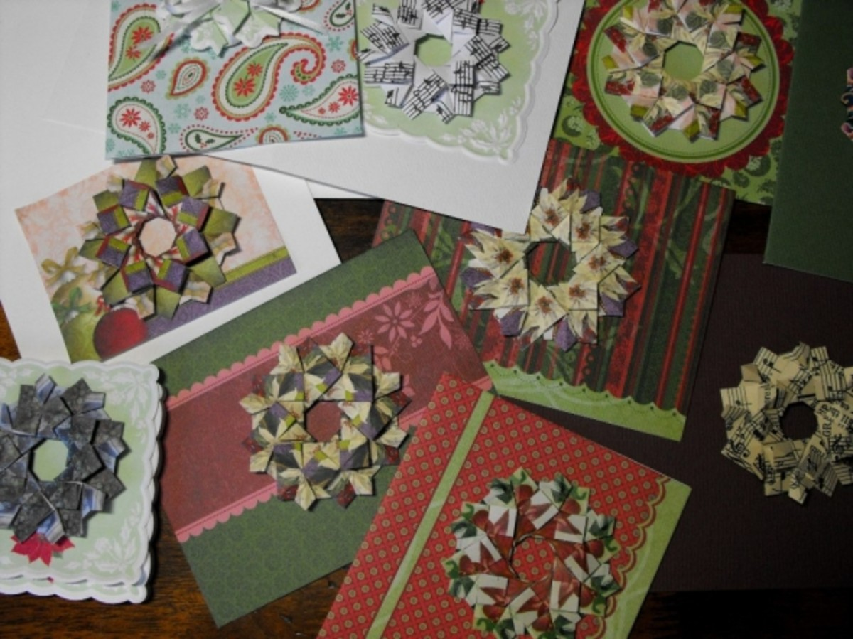 Craft card blanks in various Christmas colors.