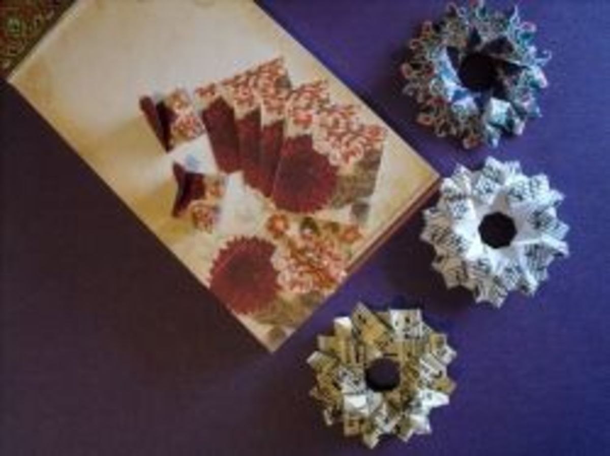 paper wreaths for card making