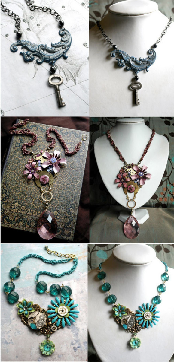 Steampunk-inspired jewels for the bride