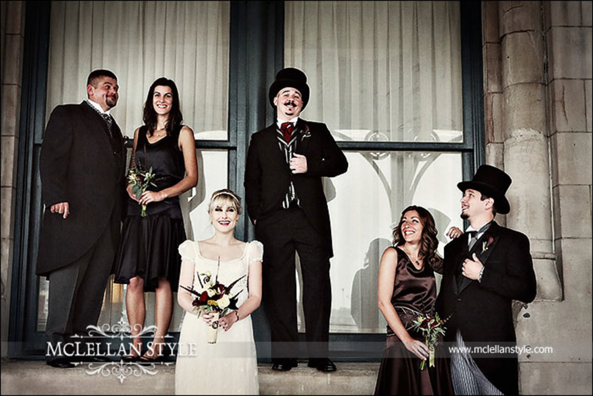 Another elegant bridal party
