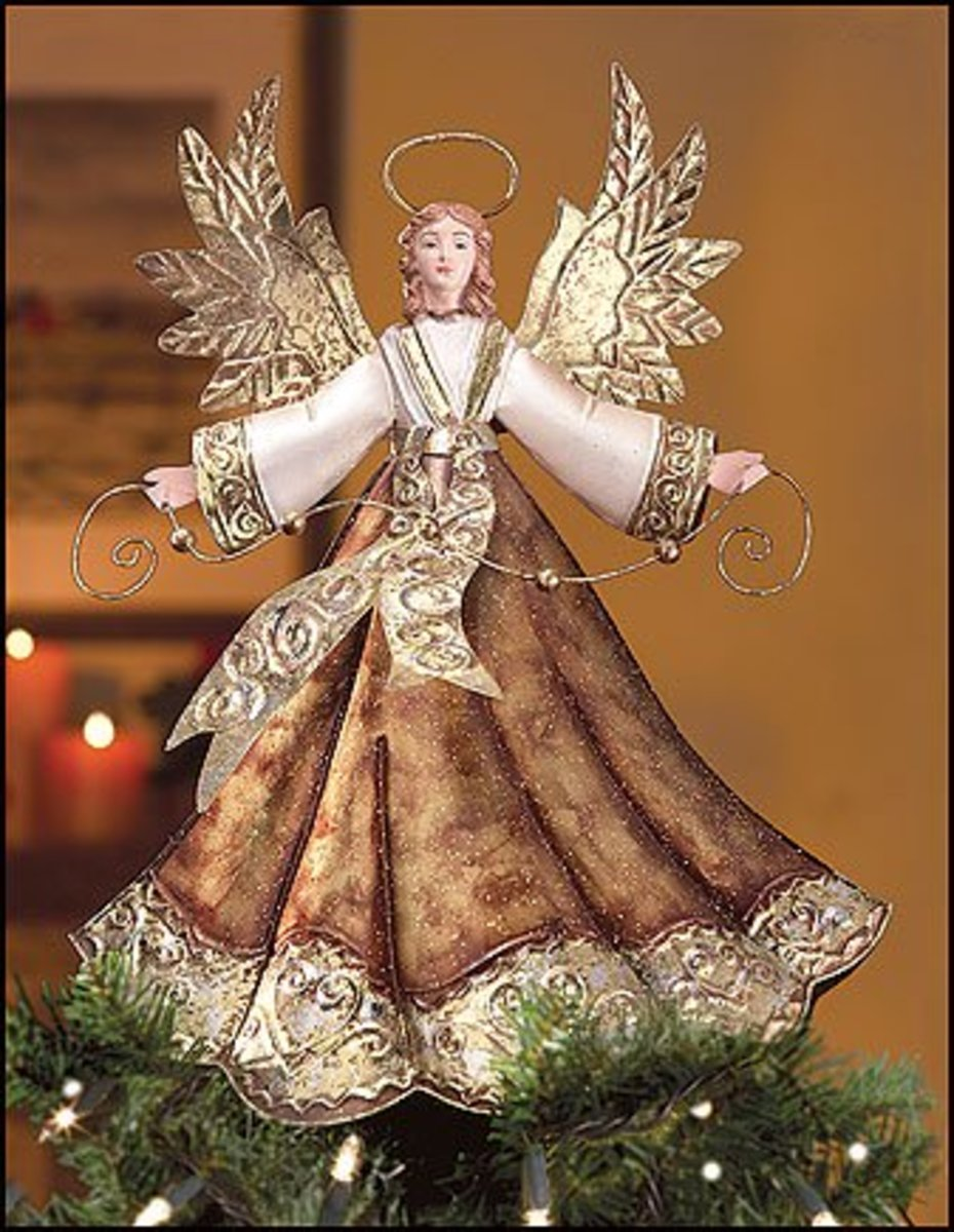 An angel tree-topper is a lovely touch.