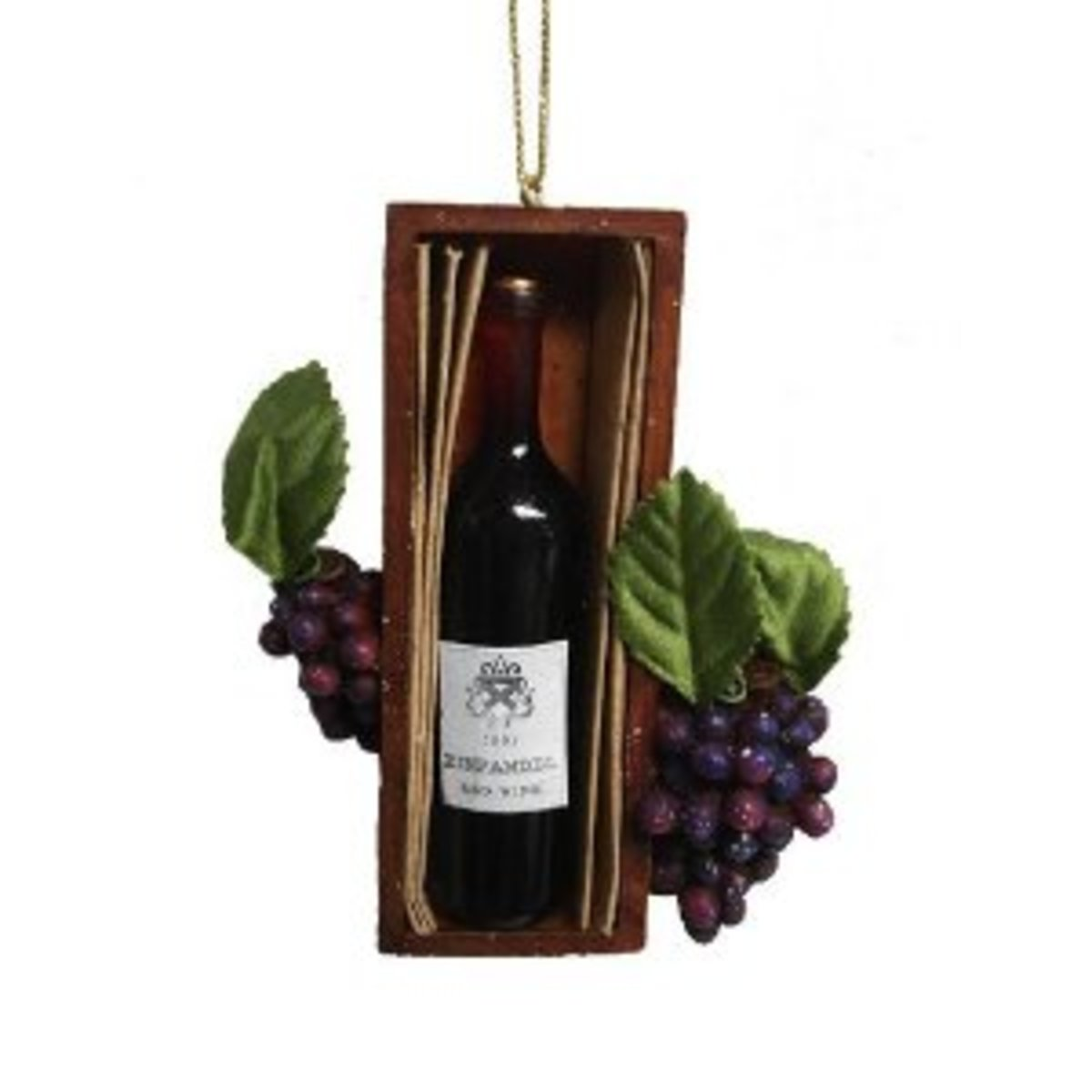 You'd need a heavy branch to hang this wine-bottle Christmas ornament!