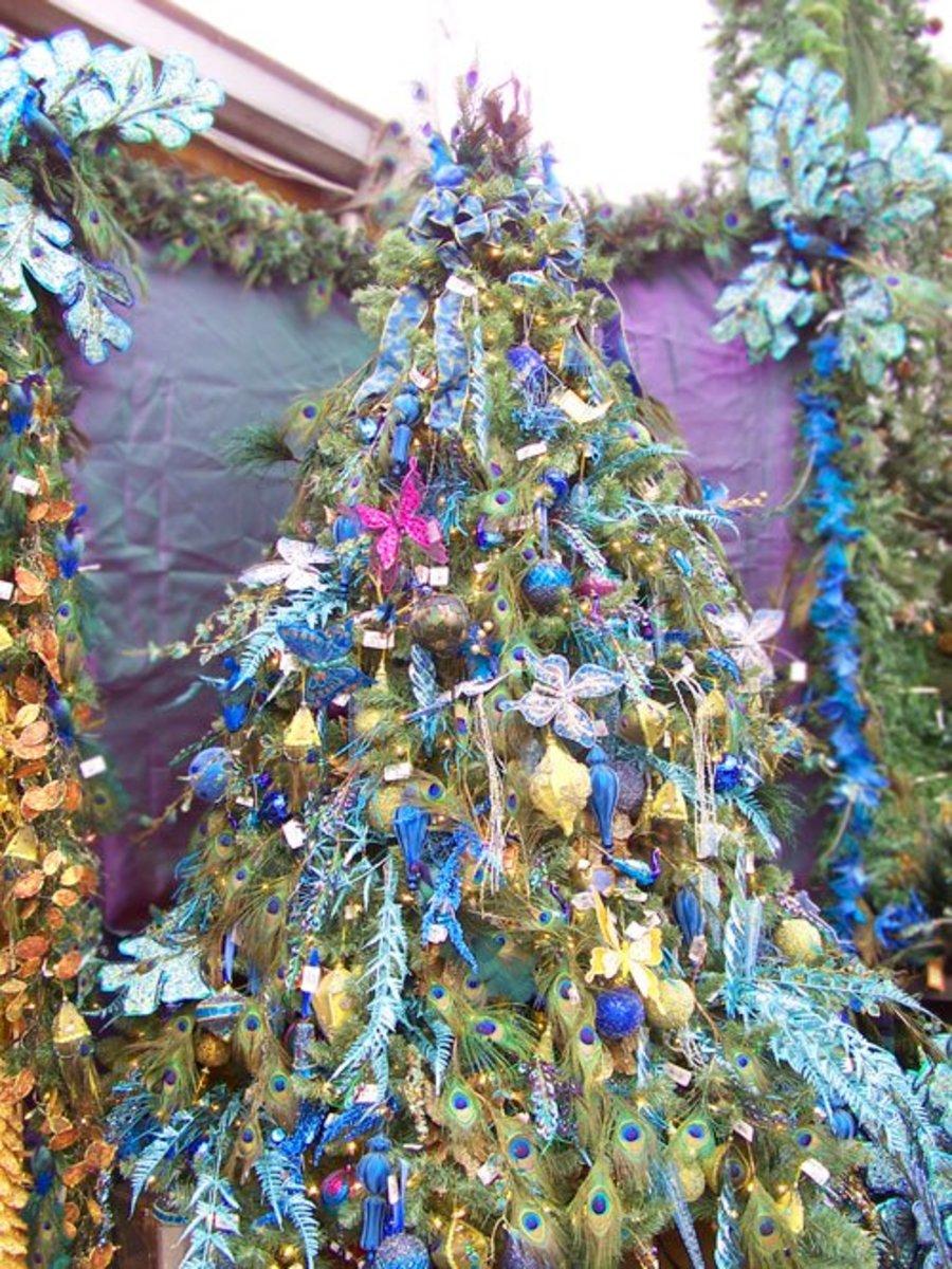 A Peacock Christmas Tree