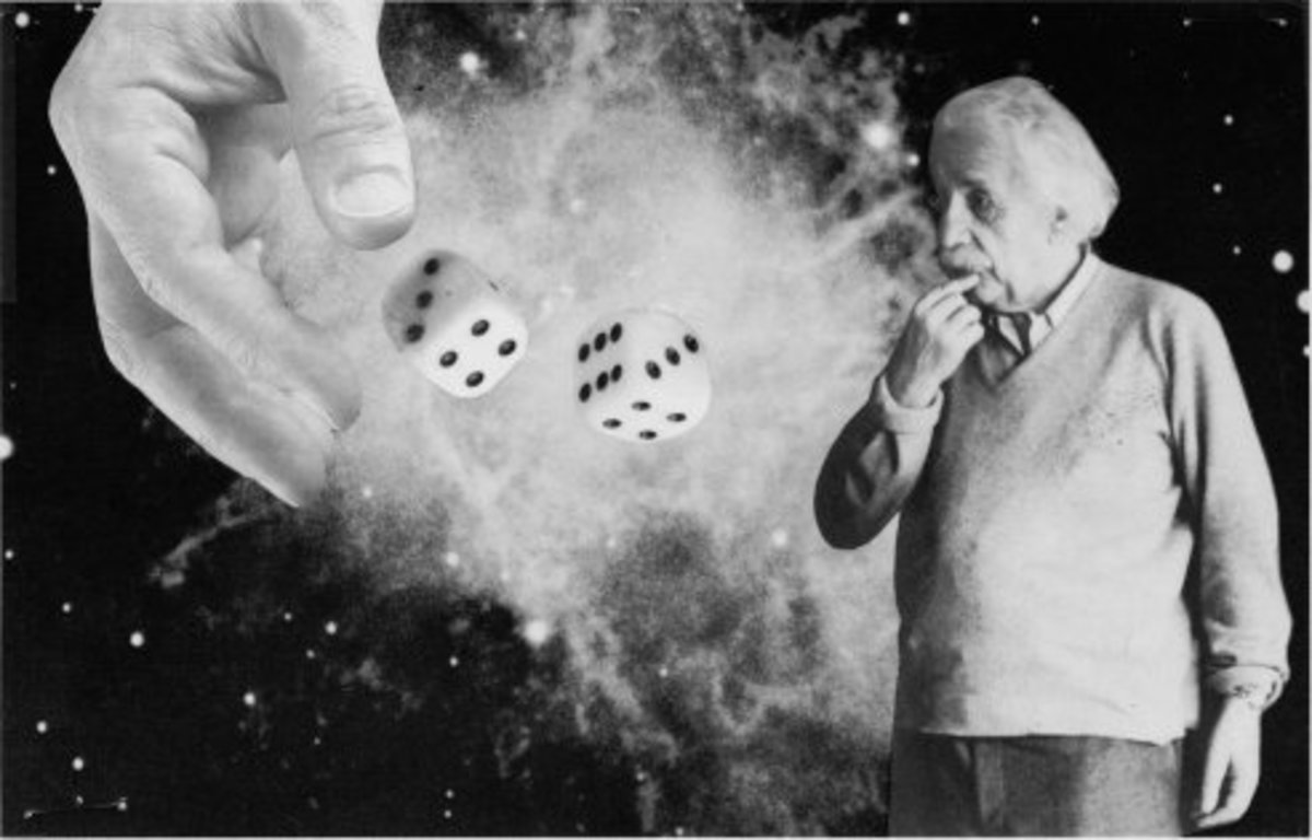 """""""I am convinced that He (God) does not play dice."""" —Albert Einstein"""