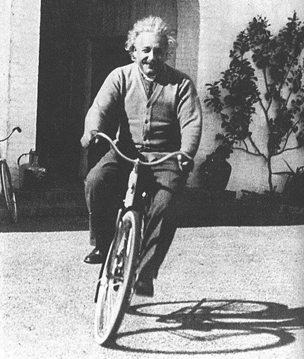 """""""Life is like a bicycle, to keep your balance your must keep on moving."""" —Einstein in a letter to his son"""