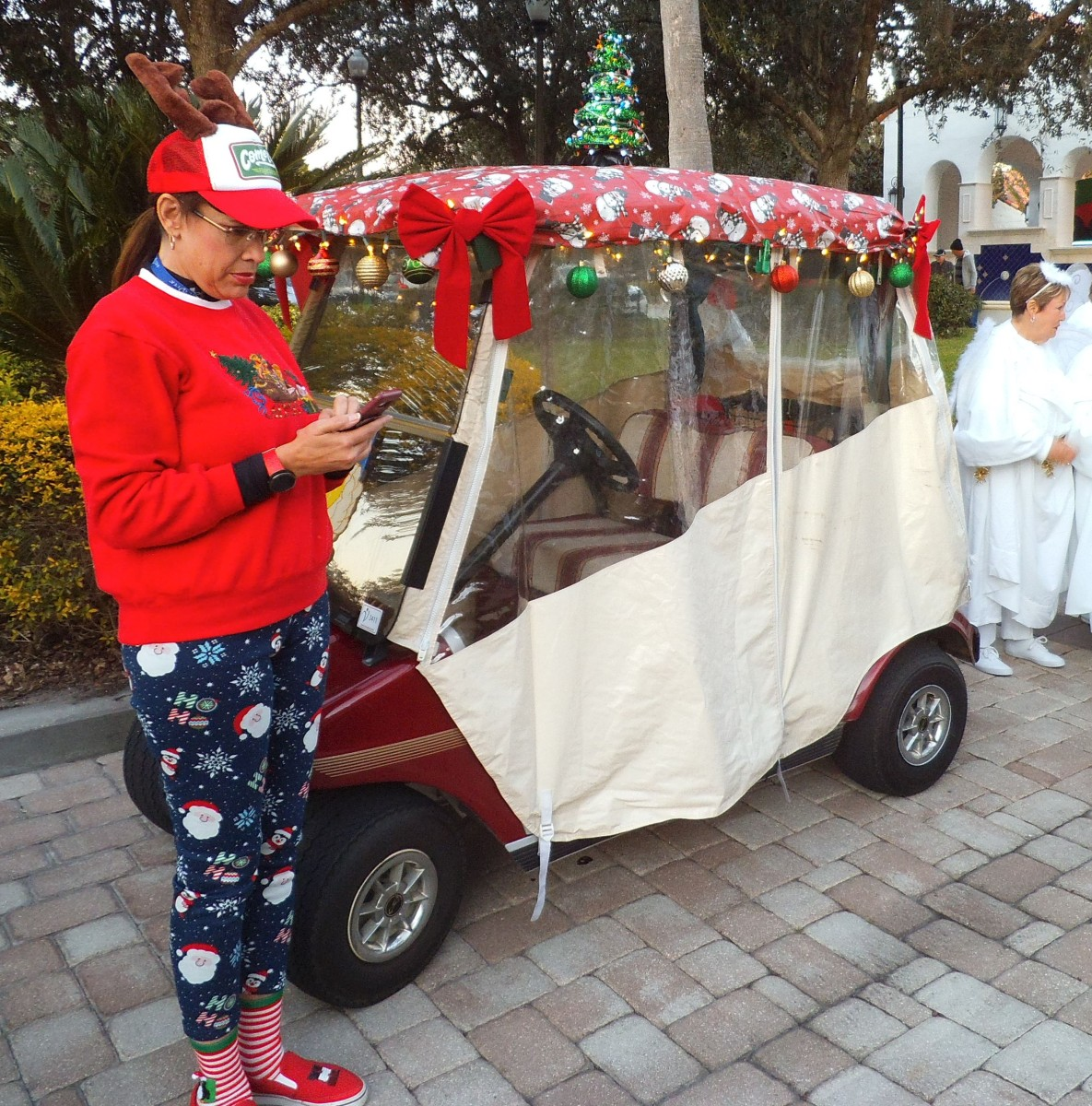 2019 Christmas golf cart parade at Solivita in Florida.