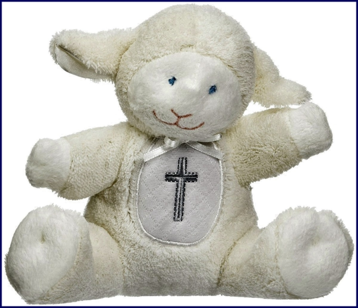 This adorable little lamb from Mary Meyer is so cuddly!