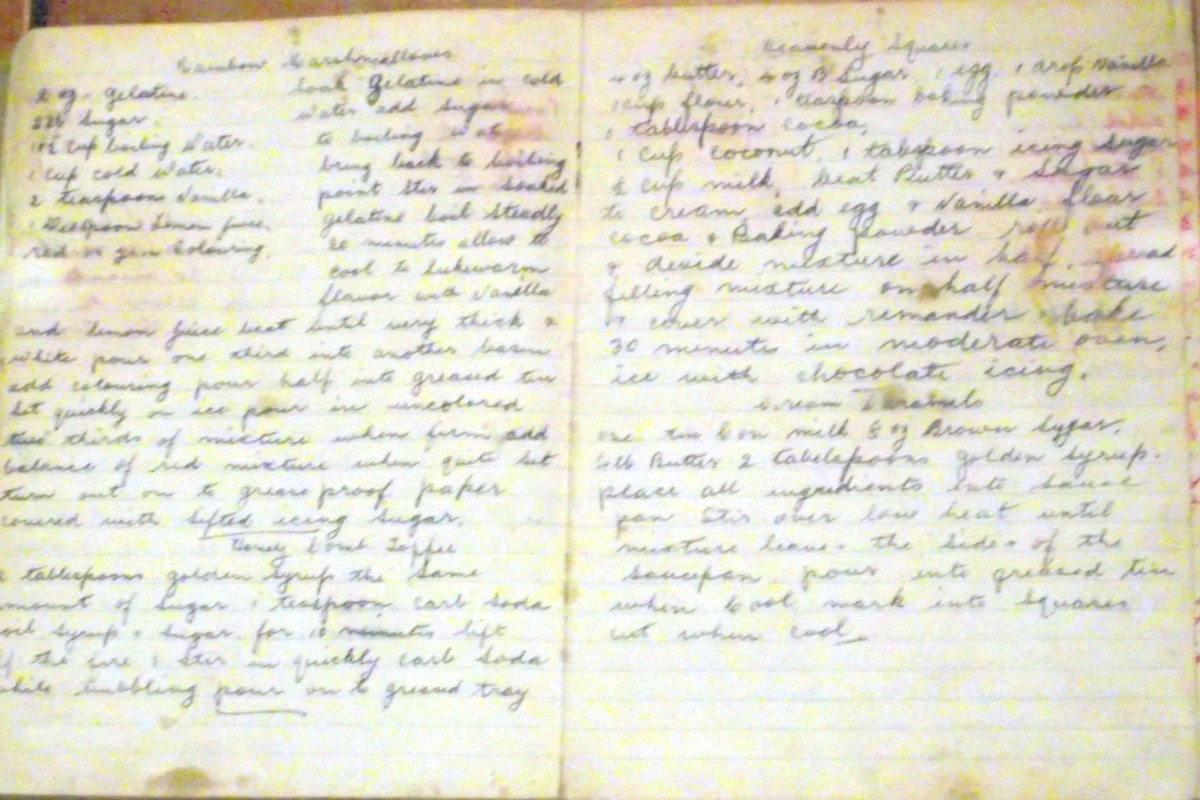 Some of the favourite recipes from Granny Maude