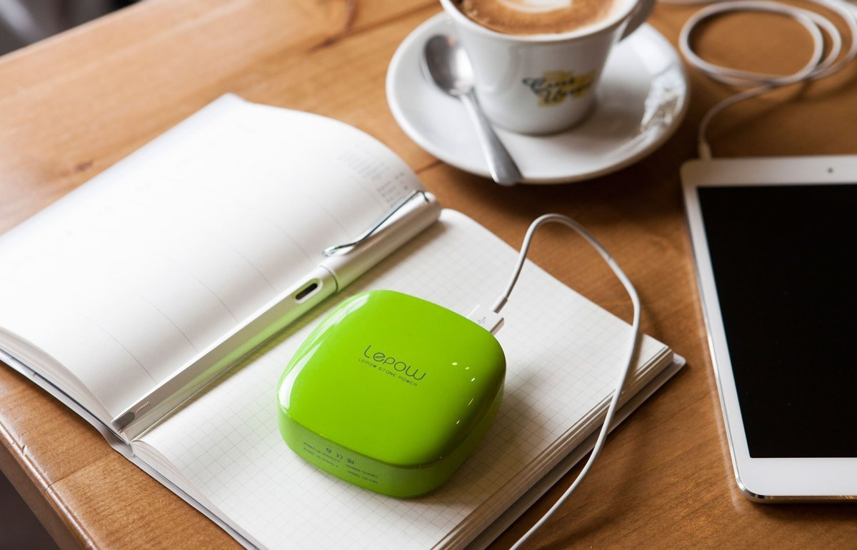 Very cute and girly battery charger that can charge two devices at the same time.