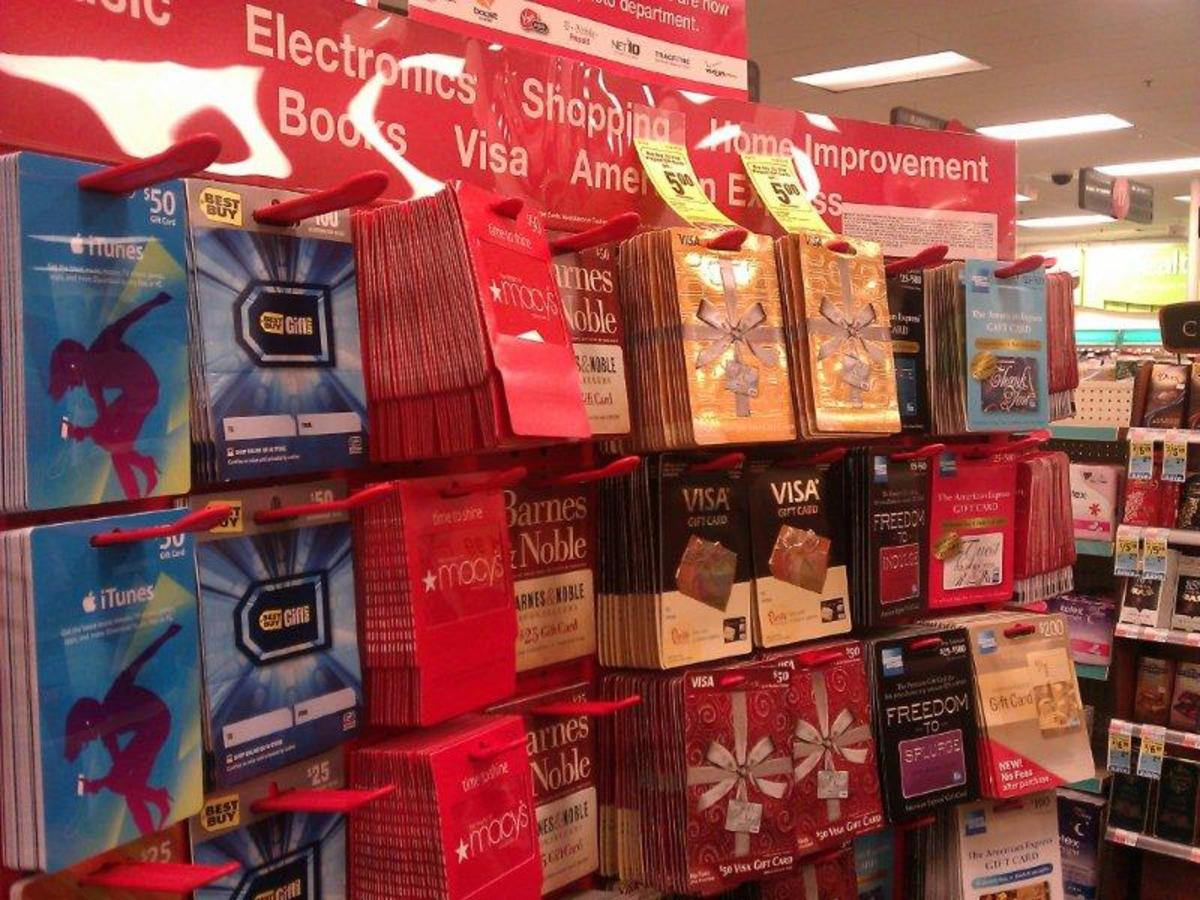 You have tons of options for gift cards. When I went there to make my list of what's available, I was actually surprised at how many different kinds they ...