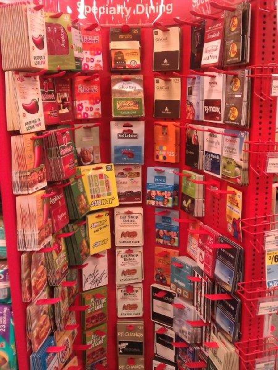 Restaurant Gift Cards at CVS