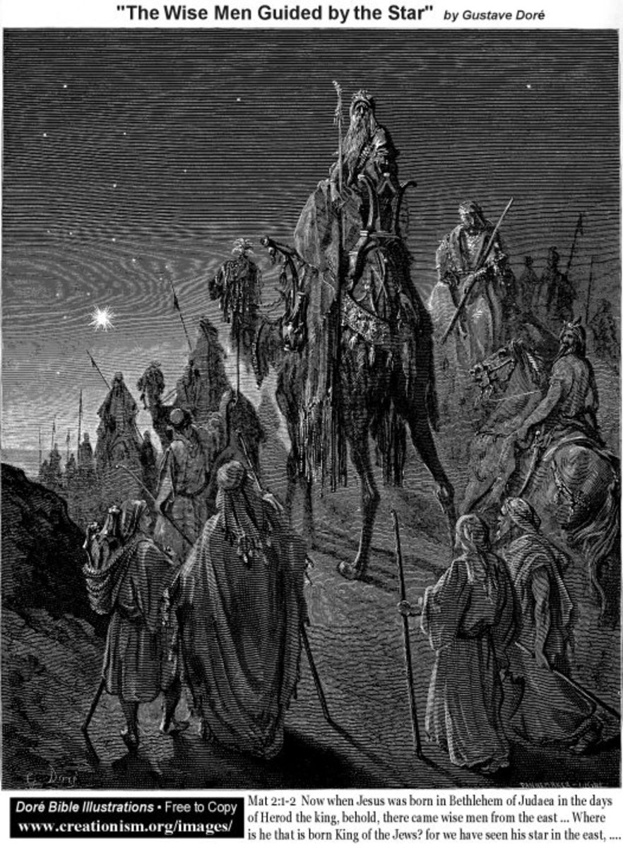G. Dore image of the Wise Men.