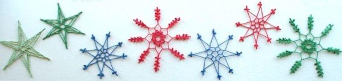 crachet snowflakes