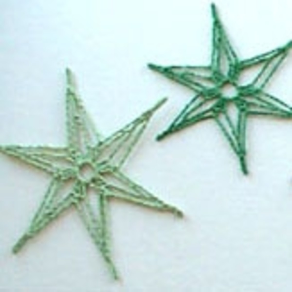 6 point crochet snowflakes photo by Mona Majorowicz