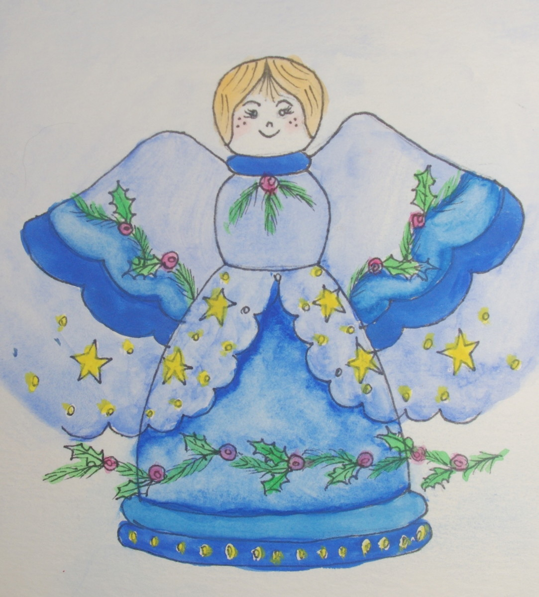 Finished Christmas Angel - photo by RedElf