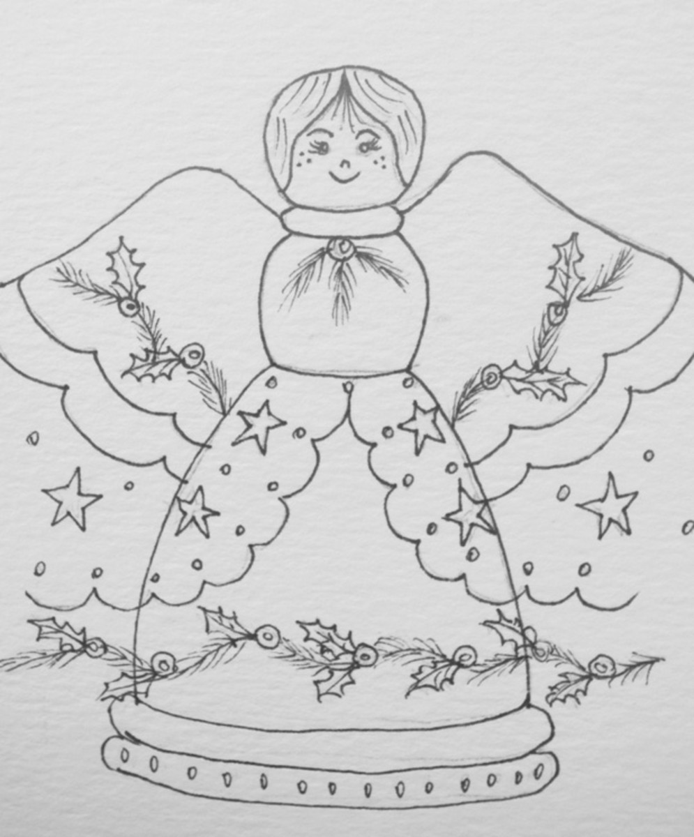Christmas Angel pattern - photo by RedElf
