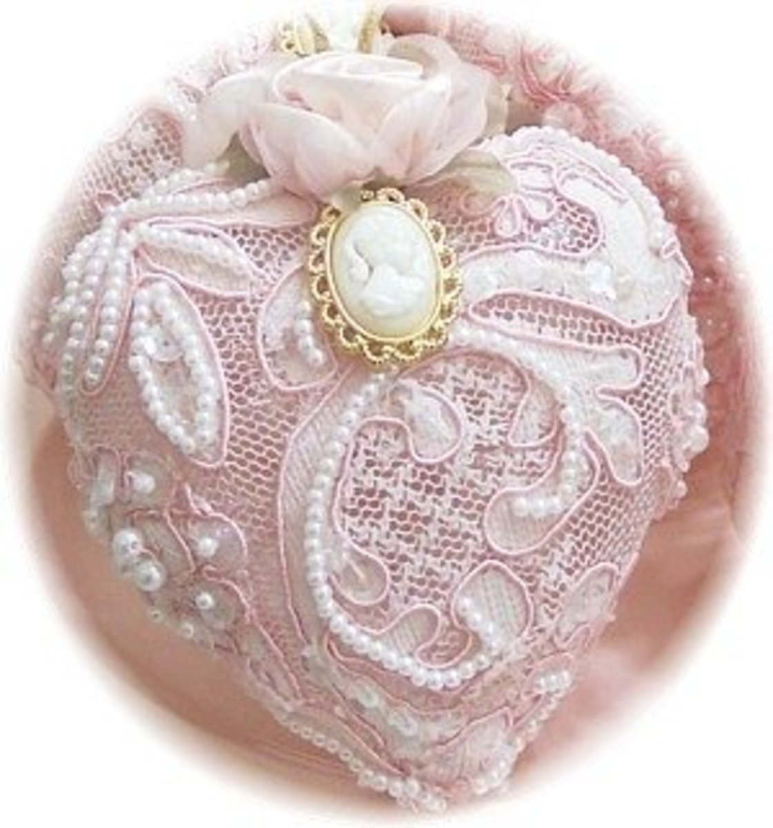 Lace Cameo Victorian christmas Ornament