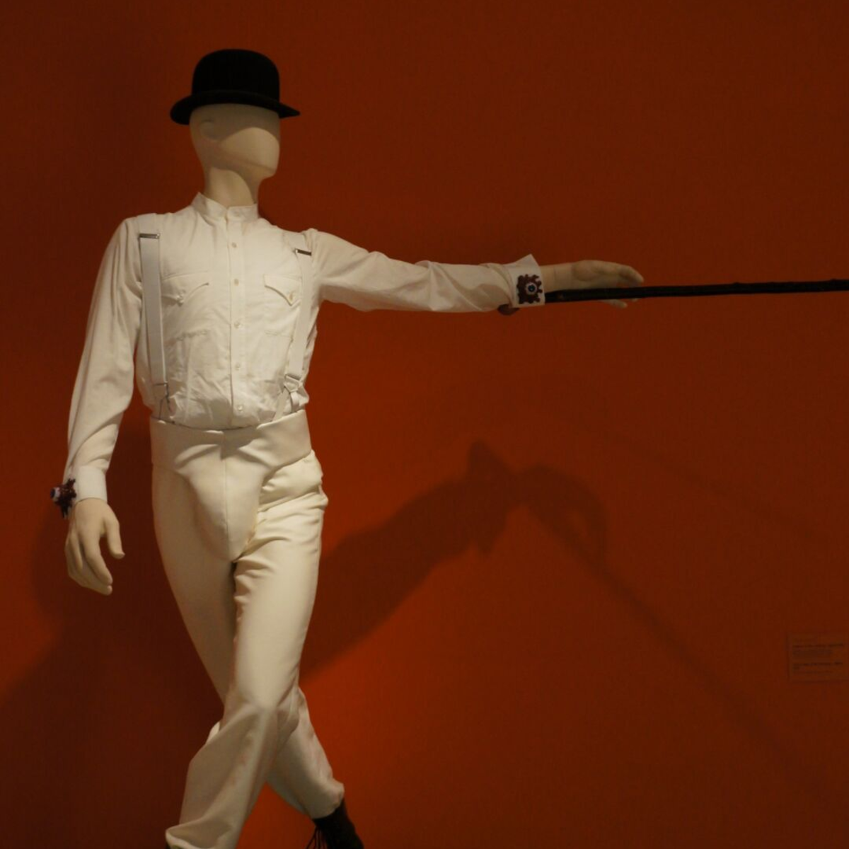 Alex's costume on display for an exhibit at Los Angeles County Museum of Art.