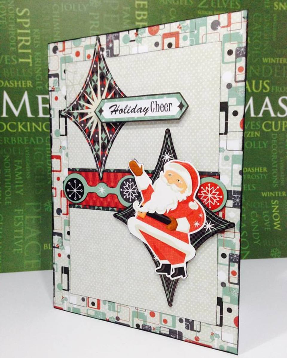 Card made by Fabrizio Martellucci using Hot of the Press Artful Card Kit Santa Baby.