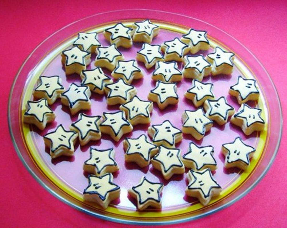 Frosted star cookies by Anna Fuji.