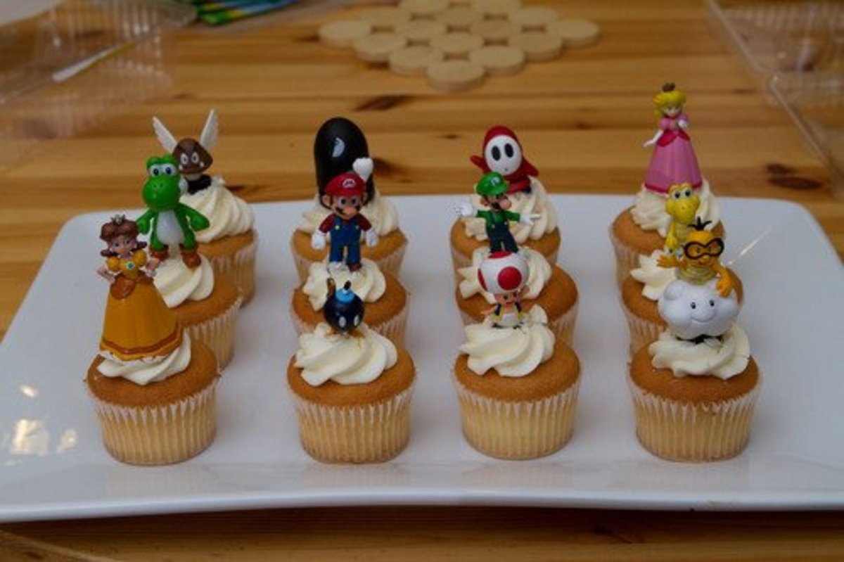These figurines are the perfect size for awesome cupcake toppers! And kids can keep and take one home!