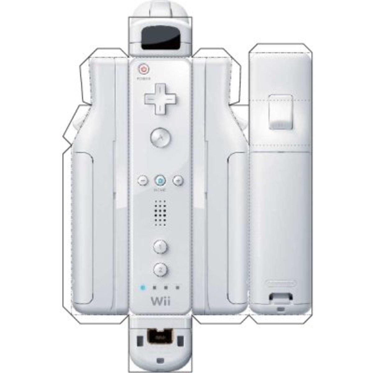 Papercraft Wii controller printable.