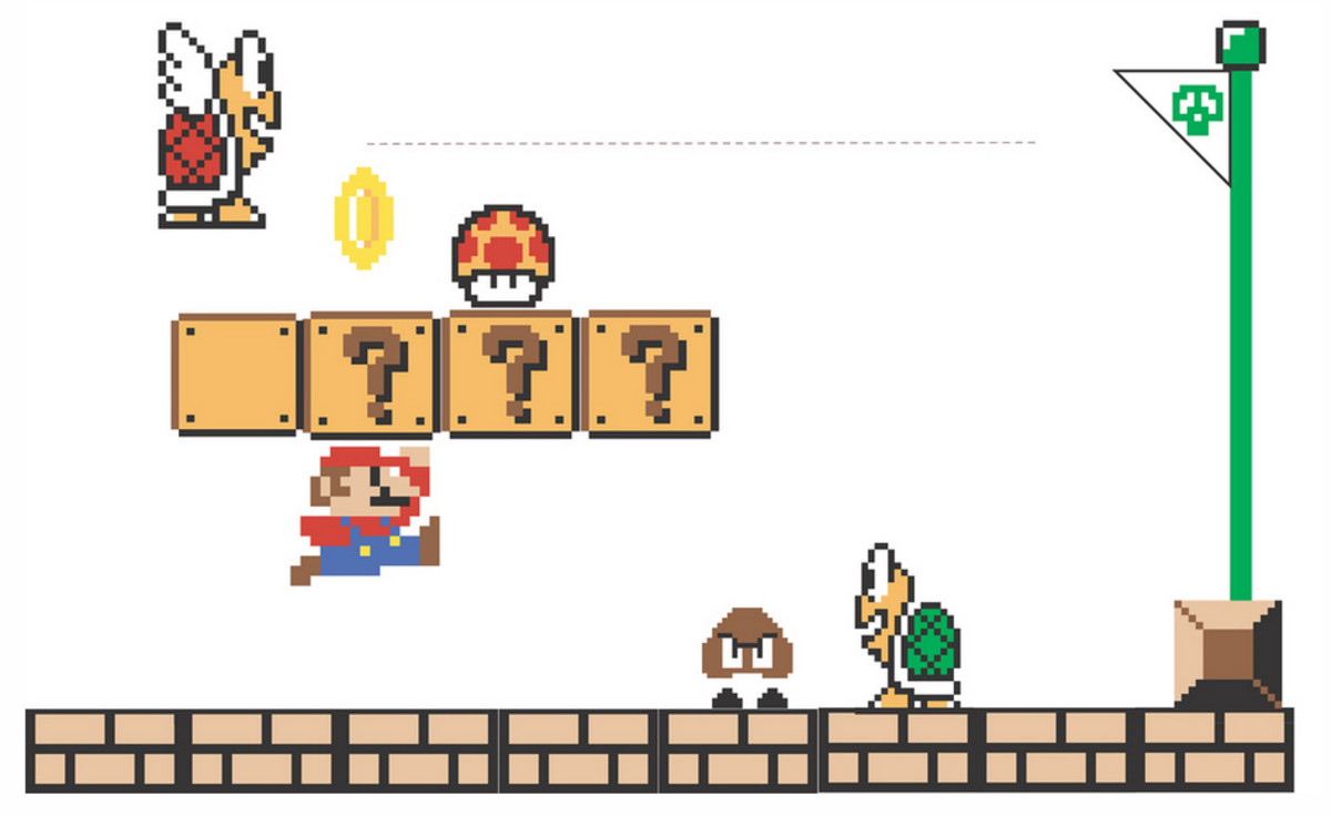 This is a free Mario-themed invitation that you can print. Click on the source link to download it.