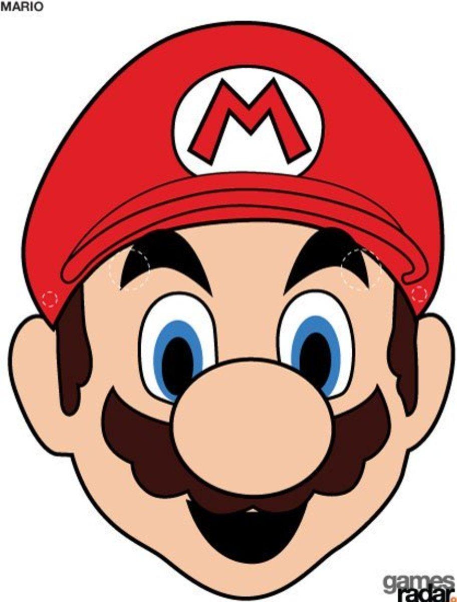 A printable Mario mask.
