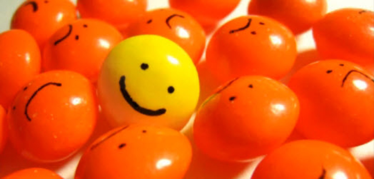 There is no point being optimistic. It just means that you will stand out from the crowd and like a yellow M&M in a bowl full of red ones, you are going to get eaten first.