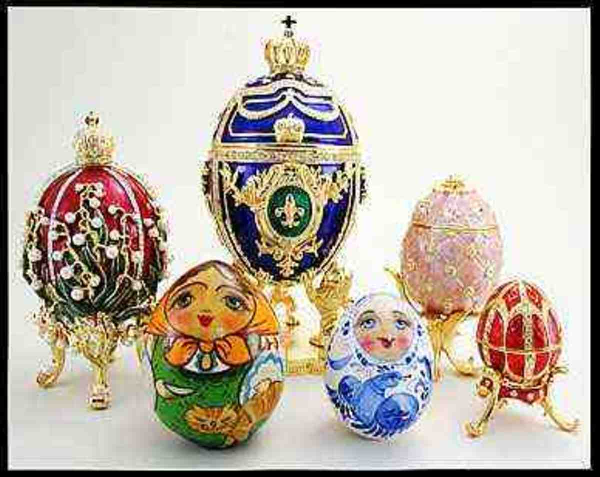Russian Easter Eggs from invitations-baby-shower.blogspot.com