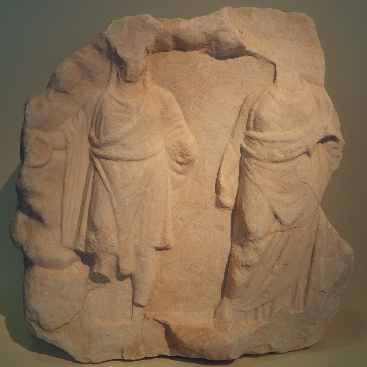 This sculpture depicts the goddess Cybele and her human lover, Attis, in whose honor Hilaria was celebrated.
