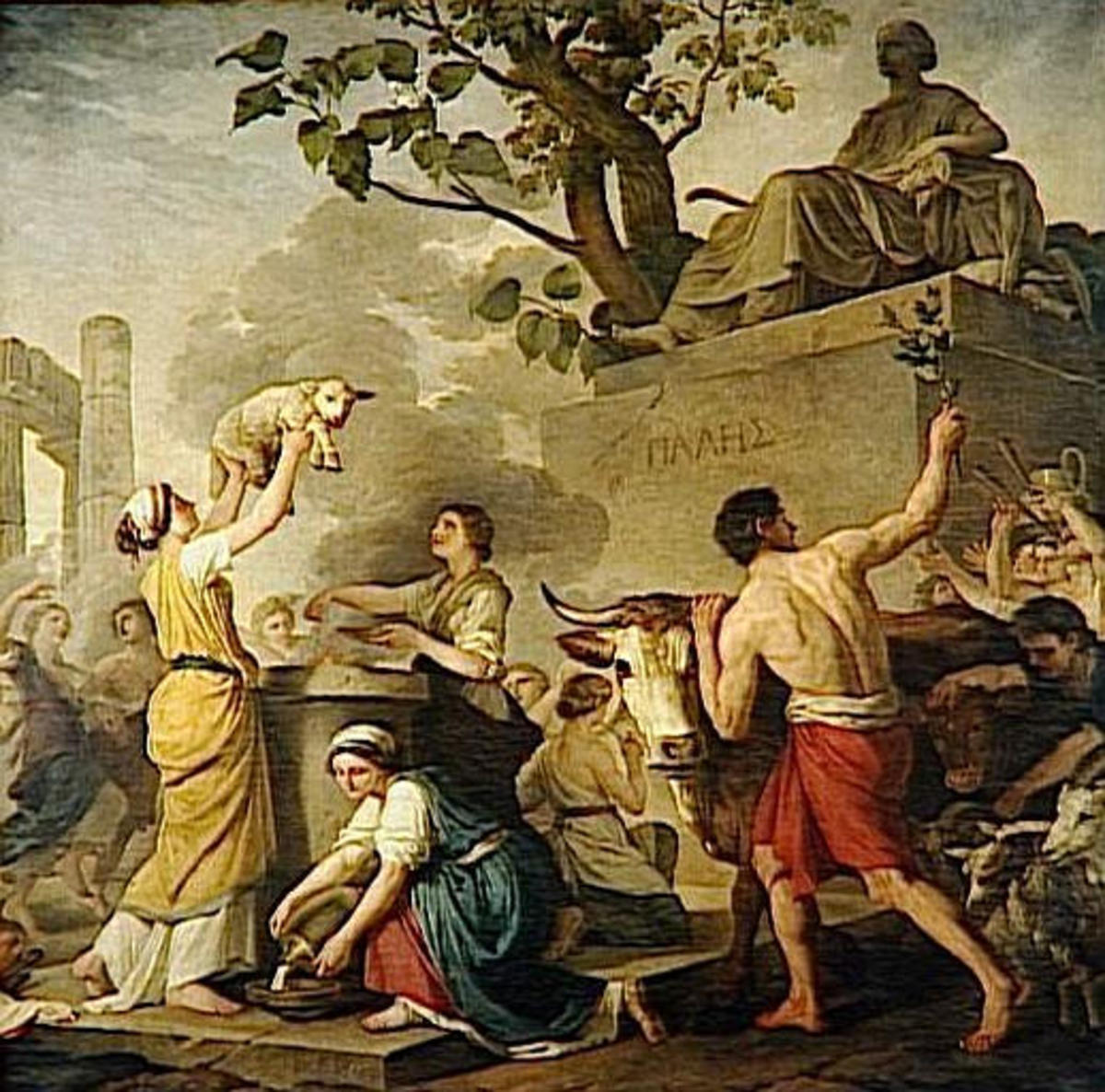 During Parilia, purifying rituals involving smoke and fire were carried out by shepherds and others to honor Pale, the god or goddess of flocks and herds.