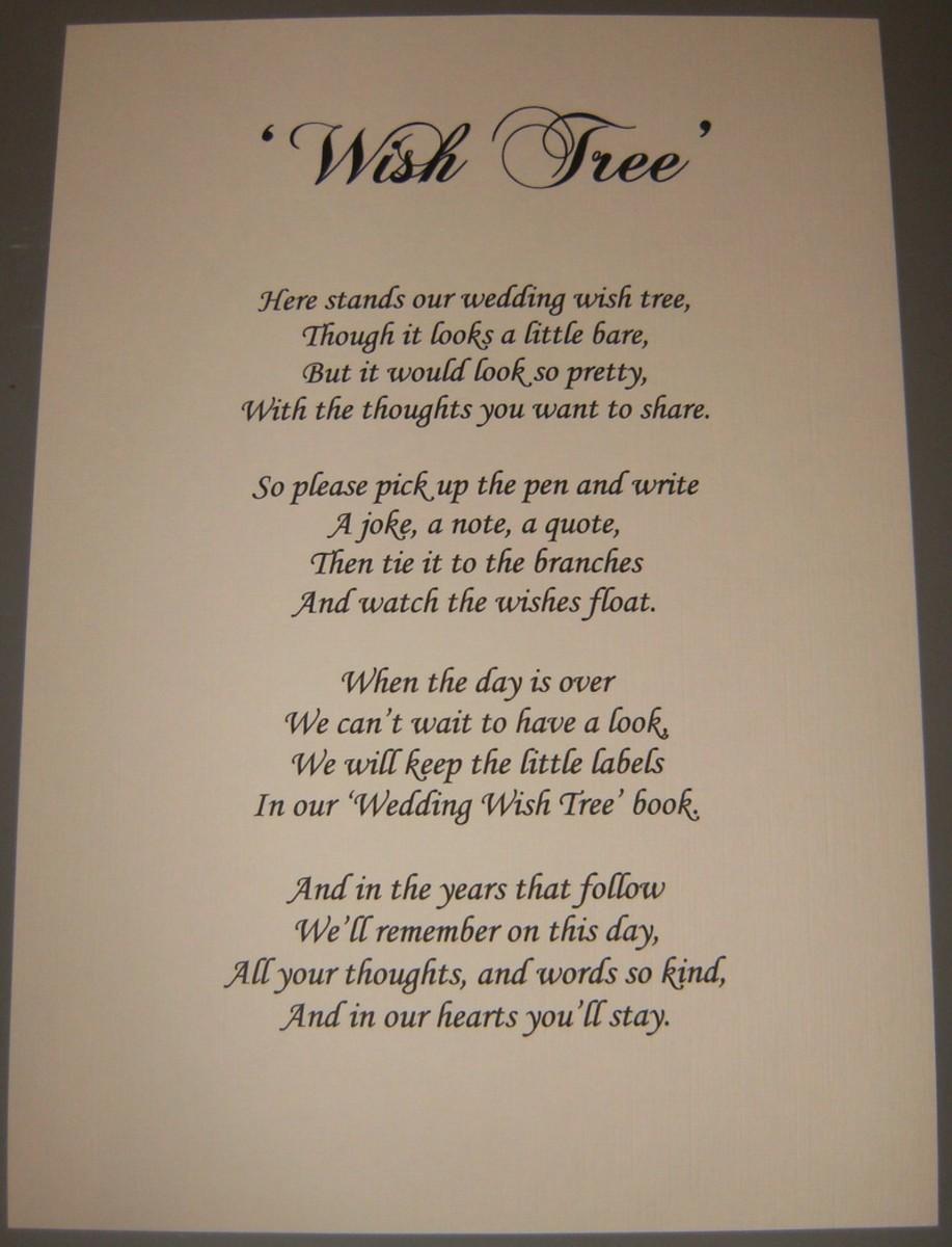 Wishing Tree Poem