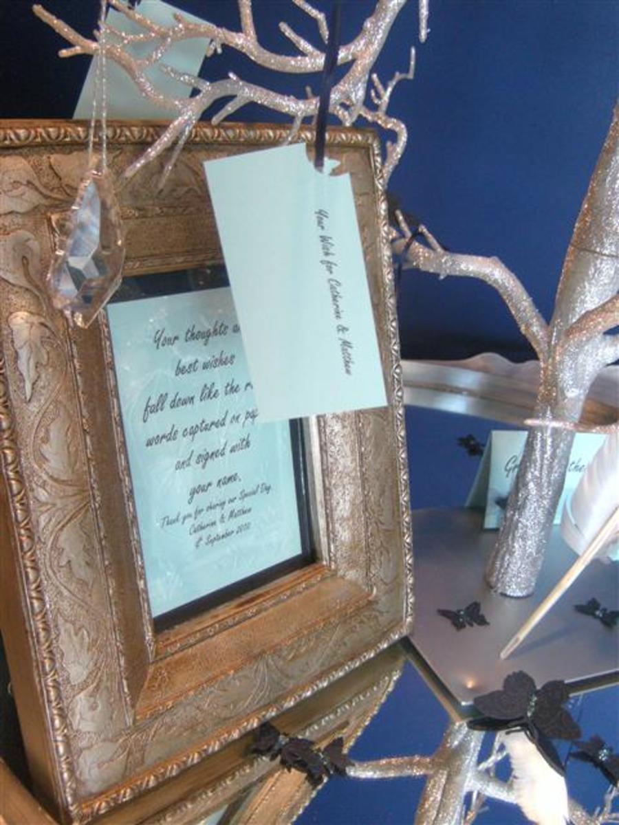 Leave a pretty frame with instructions to guide your guests.