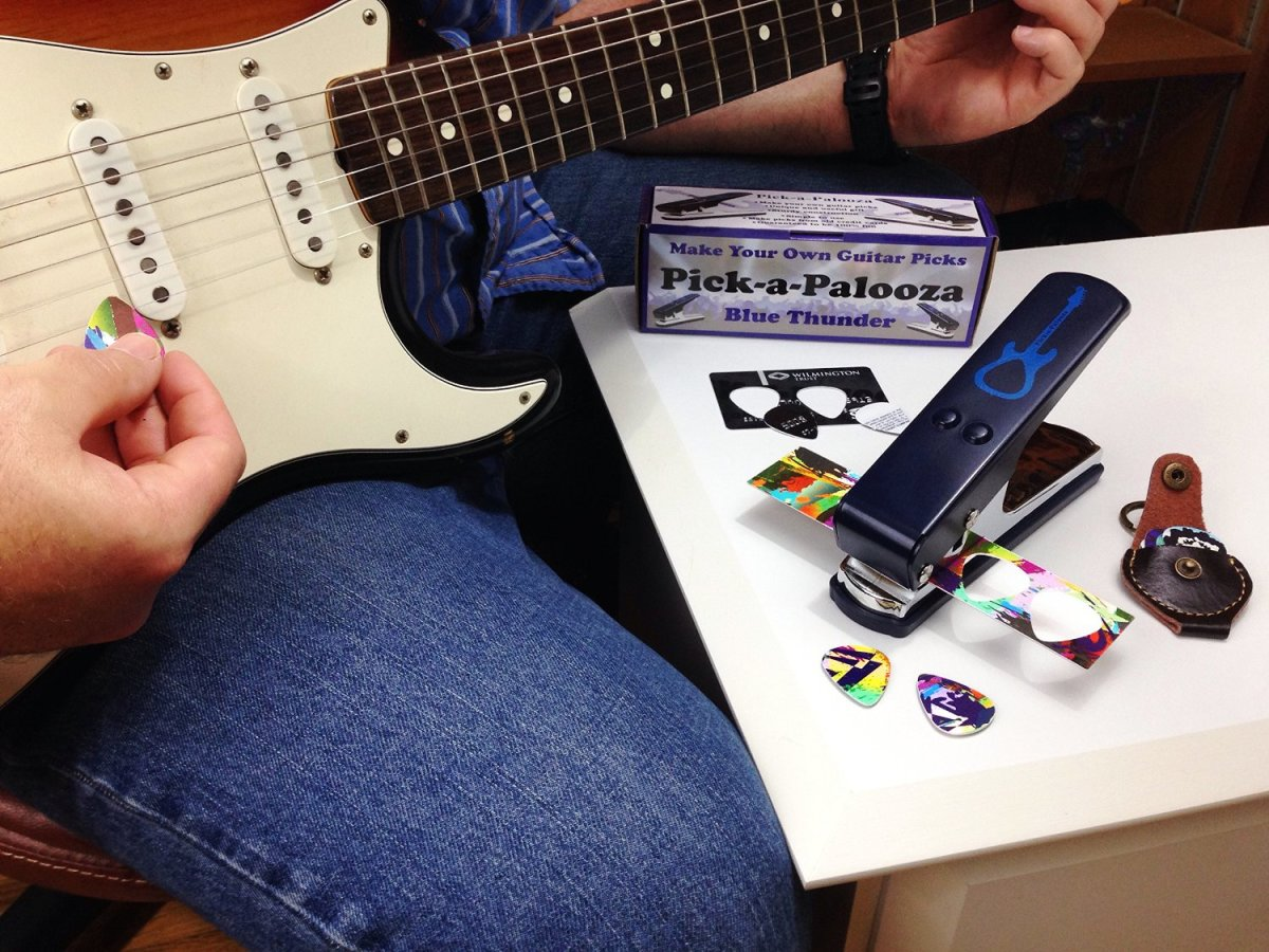 This DIY guitar pick kit is perfect for making really unique and personalized picks.