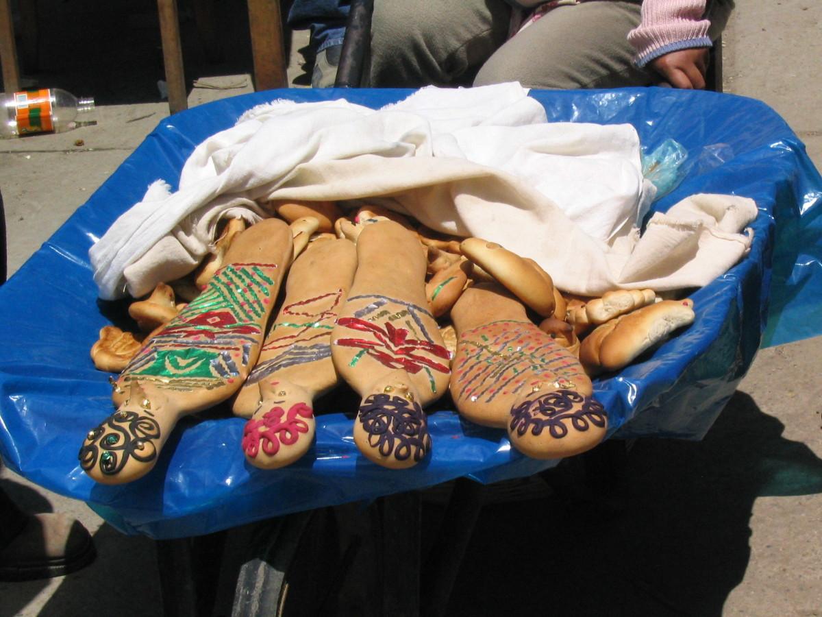 Dia de los Muertos, traditional food in Peru.