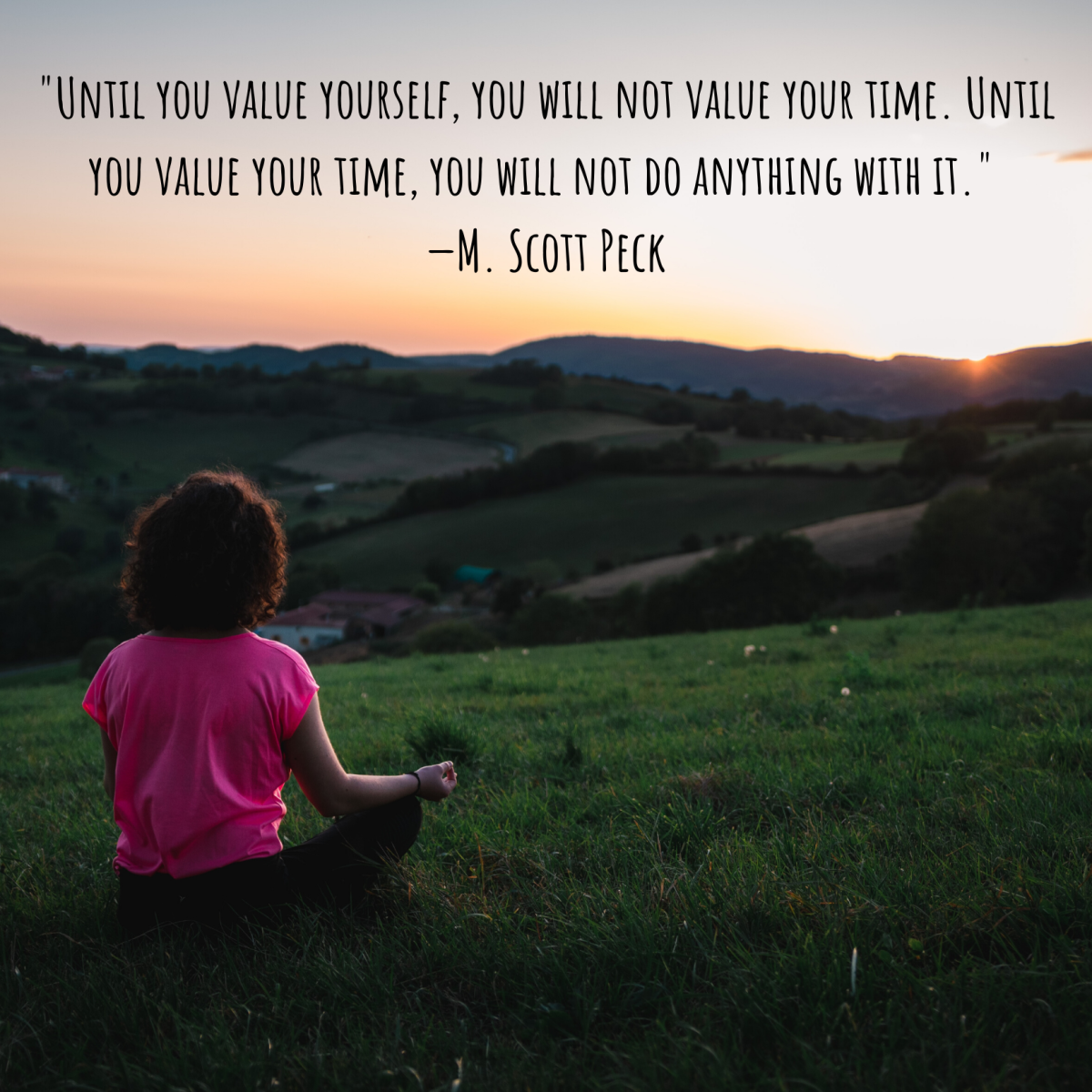Taking time to yourself is an important part of staying calm, focused, and grounded.