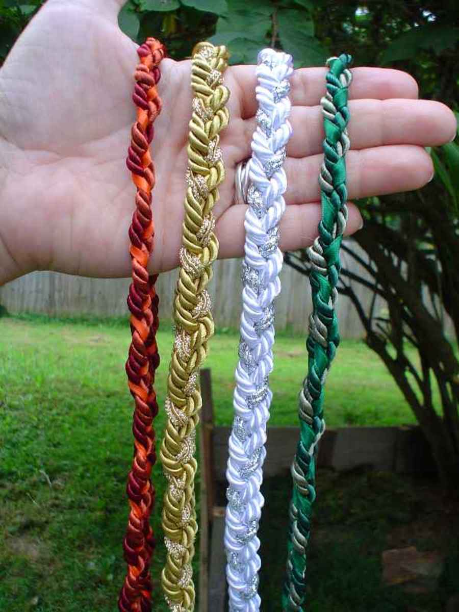 Here are some examples of handfasting cords.