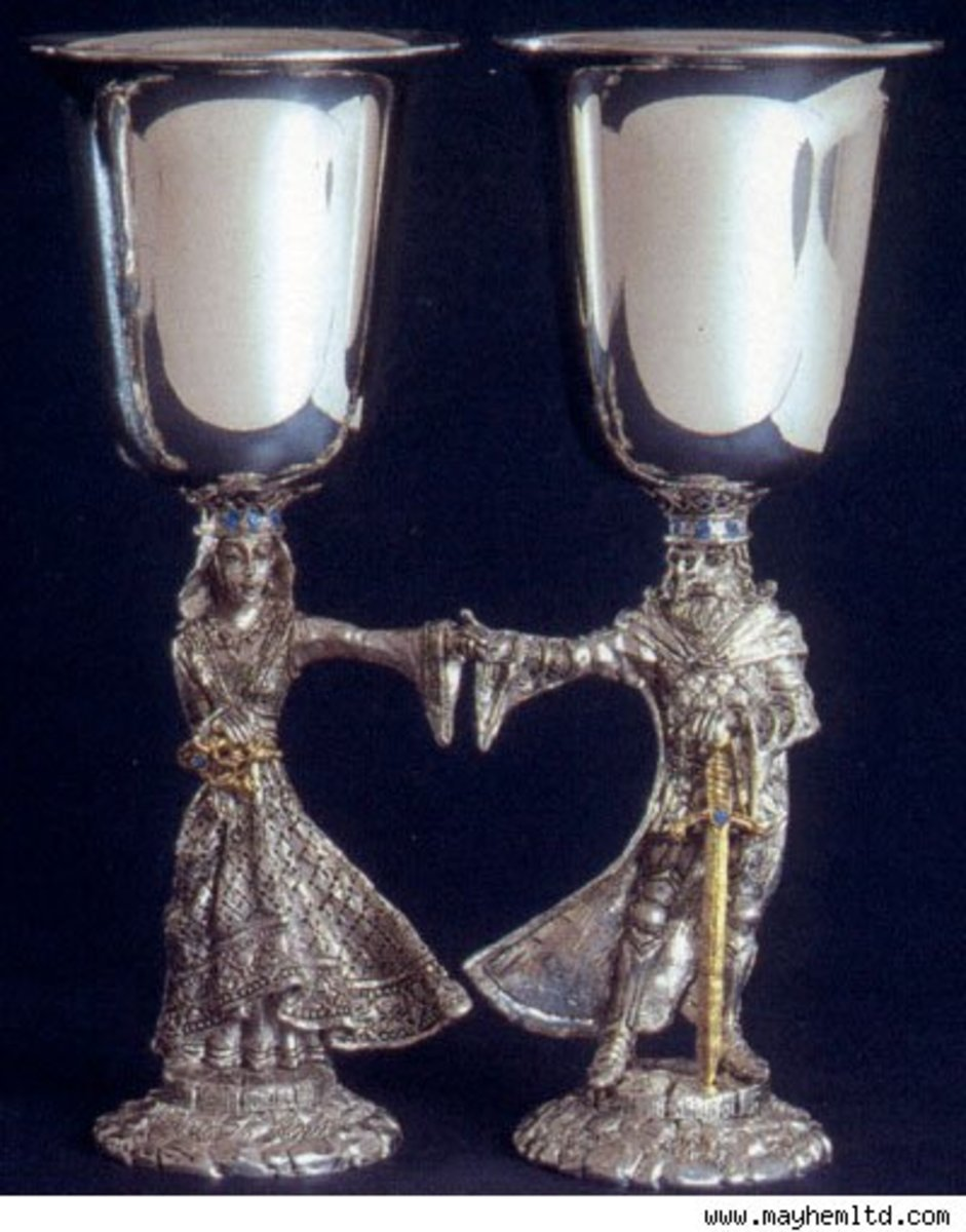 Some couples may also choose to participate in drinking from a handfasting chalice together.