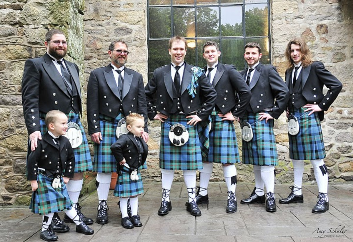The men in their kilts